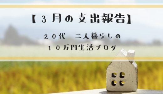 3月('19)支出まとめ!20代二人暮らしの10万円生活ブログ